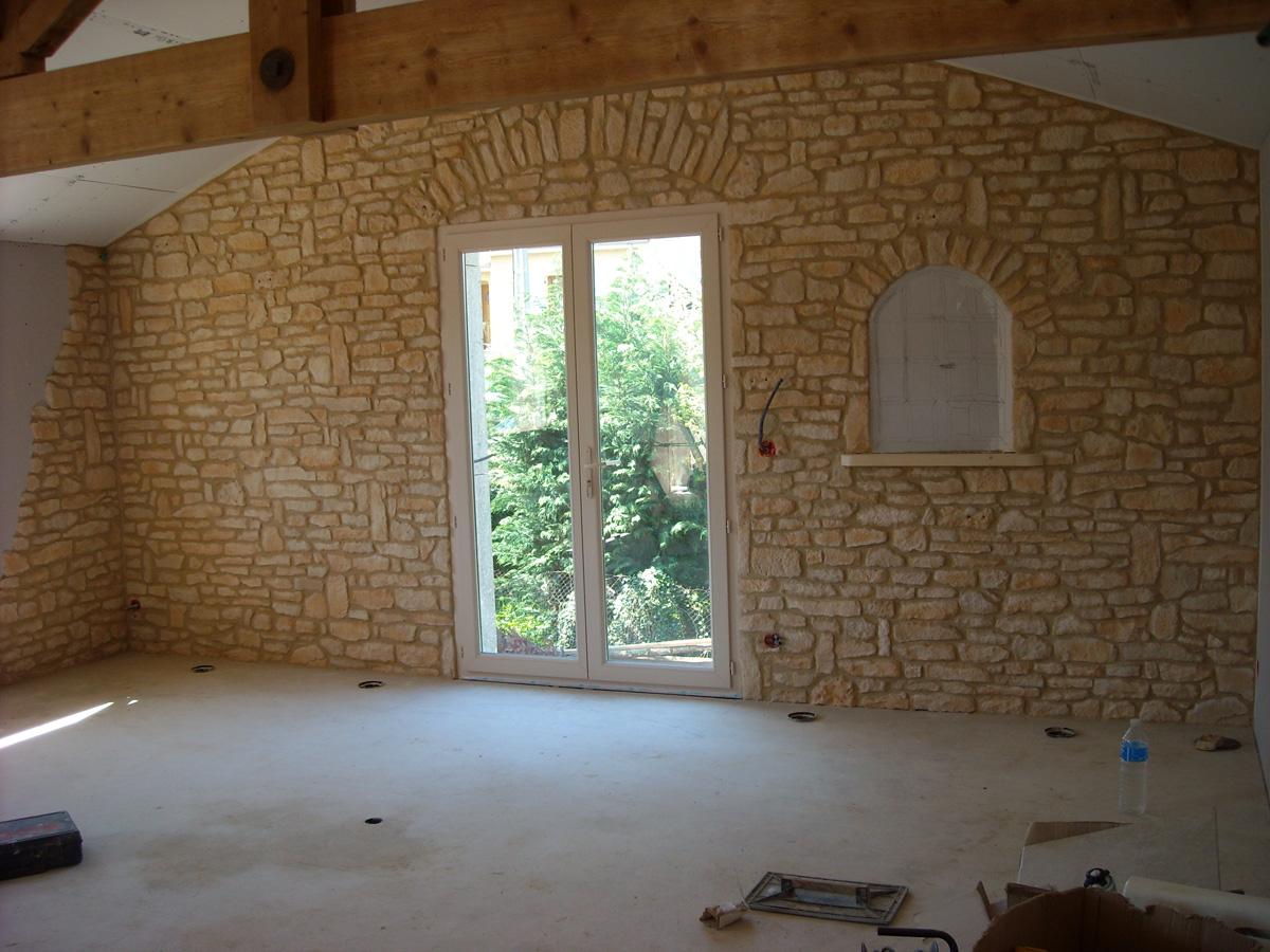 Habillage De Mur Intérieur habillage d'un mur intérieur avec de la pierre reconstituée